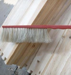 优质塑料红把单排蜂扫马鬃蜂